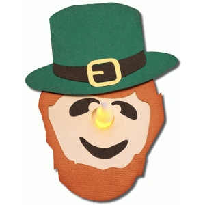 3d leprechaun tealight holder