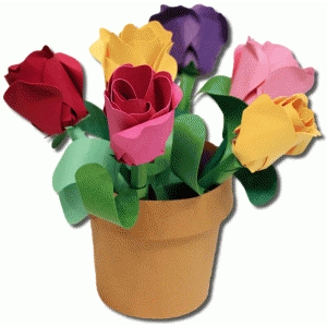 3d rose bud flower pot
