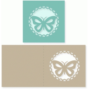butterfly scallop circle card