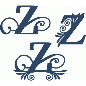 flourish monogram set - z