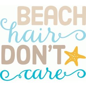 Silhouette Design Store - View Design #84485: beach hair ...