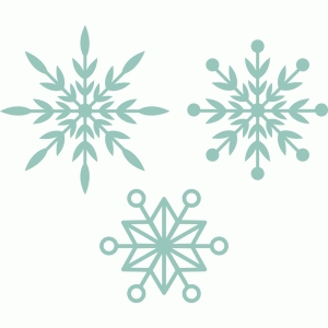 snowflakes, set of 3