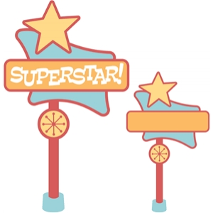 'superstar' retro sign