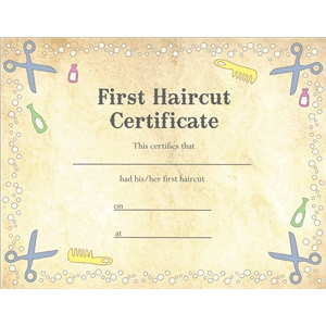 first haircut certificate pnc