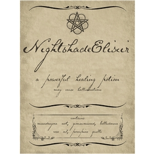 nightshade potion label pnc