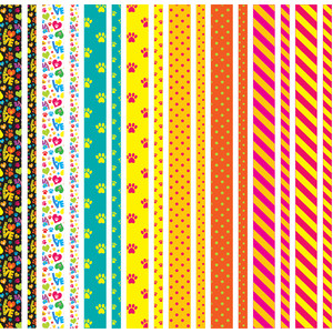 colorful, dog washi tape