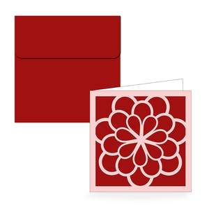 square flower folded card & envelope