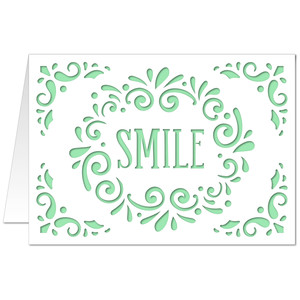 5x7 flourish card smile