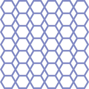 stencil hexagon