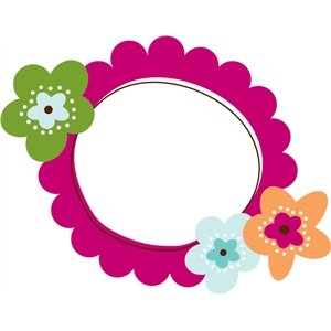 flower scalloped frame