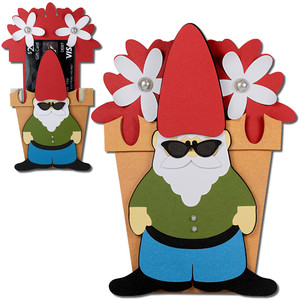 gnome flower pot gift card