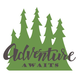 adventure awaits forest phrase