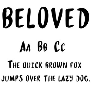 cg beloved font