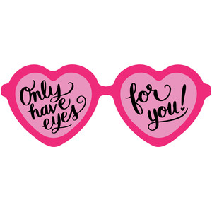 heart shape glasses