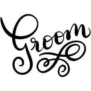 hand lettered groom