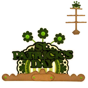 st. patrick's day finial for ornament tree