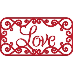 love scroll frame