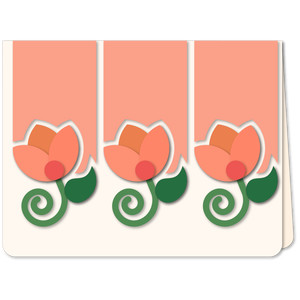 tulips sprigs trio card