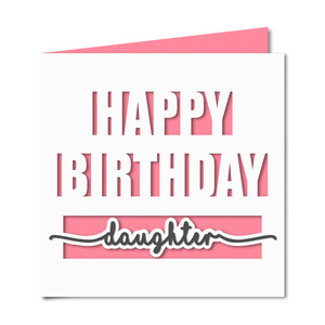 happy birthday daughter card