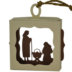 nativity hanging ornament box