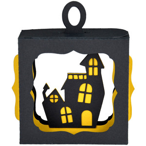 haunted house ornament box