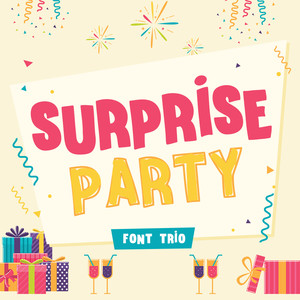 surprise party font family