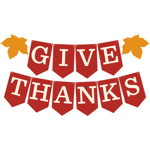 give thanks pennant banner