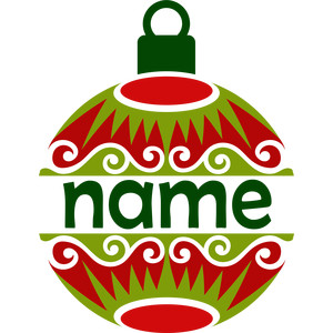 personalized name christmas ornament
