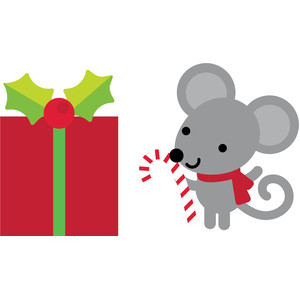 present mouse - christmas town