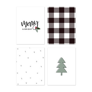 fj merry & bright journaling cards