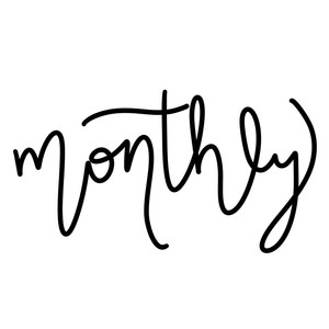 monthly word art