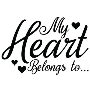 my heart belongs to...
