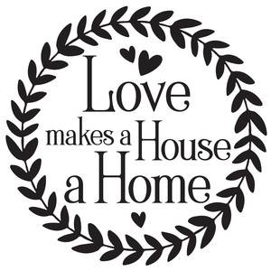love makes a house a home wreath
