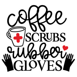 coffee scrubs rubber gloves