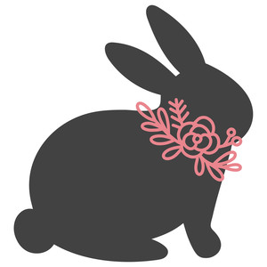 bunny flower collar