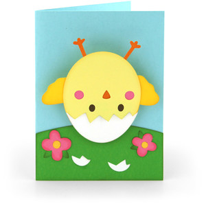 bobble head card easter chick egg