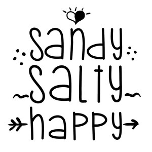 sandy salty happy