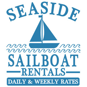 seaside sailboat rentals sign