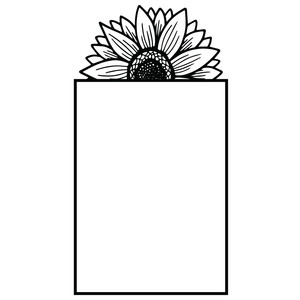 rectangle sunflower frame
