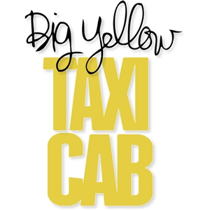 big yellow taxi cab