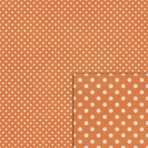 orange polka dot background paper