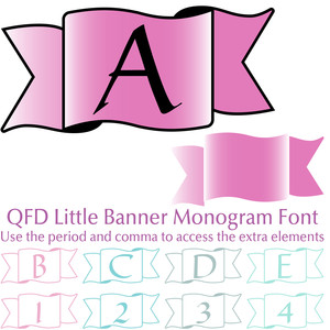 qfd little banner monogram font