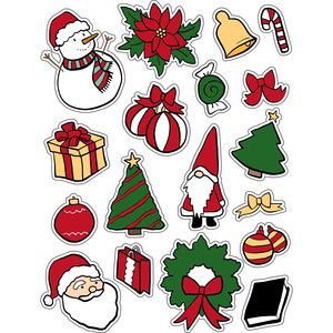 ml christmas comes stickers