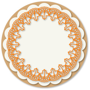 leaves doily set or rocker card base