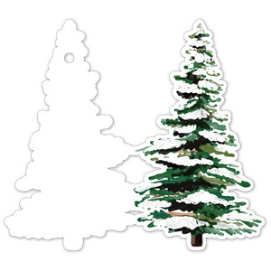 pine tree folded tag