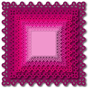 nested square doily