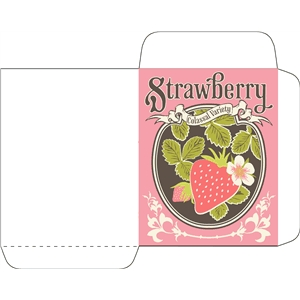 antique strawberry seed packet