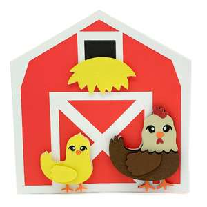 chicken and barn card
