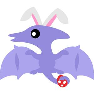 pterosaur bunny ears and easter egg