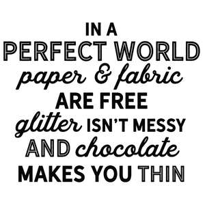 perfect world paper fabric free